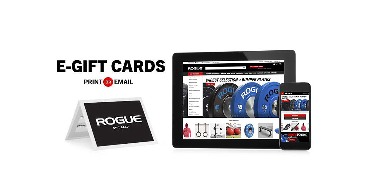 Rogue Gift Certificates Custom Strength Training Crossfit Gifts